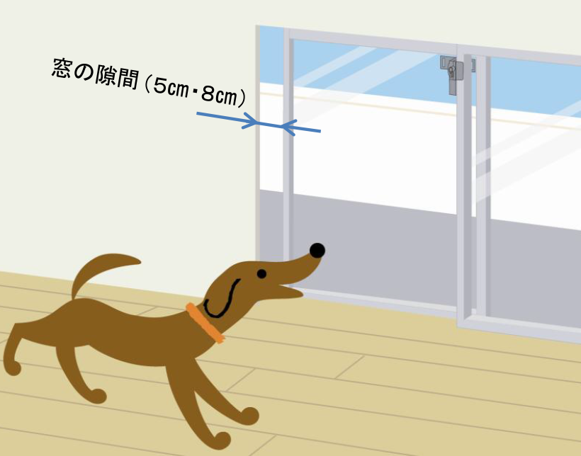 窓を開けて換気しながらロック可能!